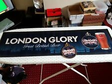 2020 LONDON GLORY GREAT BRITISH BEER NEW BAR RUNNER RUBBER BACKED & PUMP CLIP