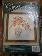 New listing Elsa Williams Crewel Embroidery Chrysanthemum vase Kit No. 335