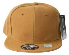 Fitted Acrylic Plain Style Light Brown Hat