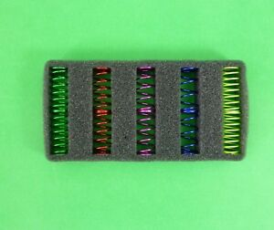 5 pairs of springs to suit Tamiya & HPI 1:10 RC Shocks and others.