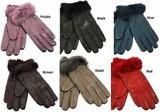 Leather Unbranded Winter Gloves & Mittens for Women