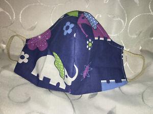 Maske Behelfsmaske, Gesichtsmaske, Mundmaske Nasenmaske Elefanten Kindermaske