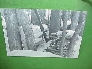 "1971 Art Photo 6""x9"" Black & White Mounted Photograph Snowy Woodpile Vermont"