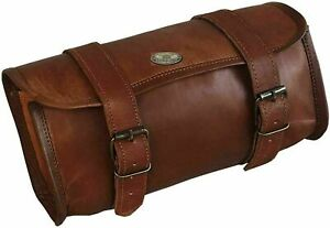 Motorcycle Leather Front Fork Tool Bag Luggage Saddle Bag Storage Tool Pouch New