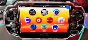 Black PS Vita Playstation Vita 256G OLED 3.65fw Henkaku Enso with accessories