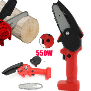 4'' Mini Small Handheld Cordless Electric Chainsaw Rechargeable Wood Cutter