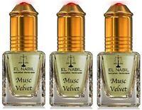 LOT DE 3 MUSCS PARFUMS MUSC VELVET EL NABIL 5ML NOTES: Pamplemousse