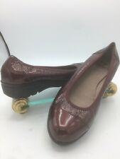 340e301dc3c WONDERS A1302 Womens 6.5 7 EU 37 Burgundy Red Patent Leather Cap Toe Loafers