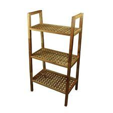 Estanteria madera bambu 3 niveles, 60 x 26-38 x 111