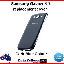 Dark Blue Battery Back Door Cover for SAMSUNG Galaxy S3 GT-I9300 Pebble Case