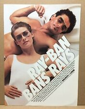 Vintage 1984 Ray-Bans Sunglasses Bans Rays Man Woman Yacht Bausch Lomb Print Ad