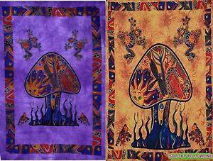 2 piece Mushroom Tapestry Bohomen Indian Wall Hanging Wholesale (77cmX102cm)PO-5