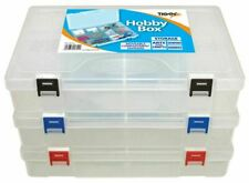 Large Adjustable Craft Caddy Plastic Hobby Storage Utility Box Compartments