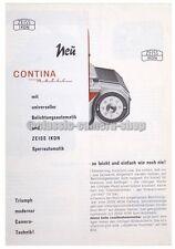 ZEISS IKON Prospekt CONTINA matic Kamera Werbe Blatt Reklame (X2434