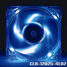 Evercool 120mm x 25mm Blue LED Case Fan with 3 & 4 Pin Connectors CLB-12025-4LD2