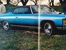 1971 Chevrolet Chevy Bel Air Impala Original Car Dealer Sales Brochure Folder