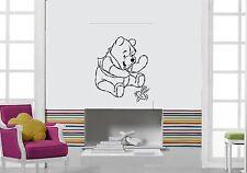 Wall Stickers Vinyl Decal Winnie The Pooh Cartoon Nursery Baby Room (ig1042)
