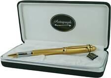 Roller Ball Pen Goldy By Autograph Golden Satin/Gilt Trim Presentation Box