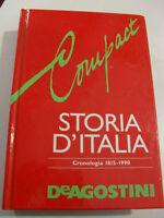 AA VV STORIA D'ITALIA CRONOLOGIA 1815-1990 DEAGOSTINI
