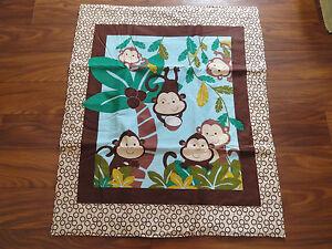 Handmade/ Homemade Baby Quilts-  Baby Monkeys