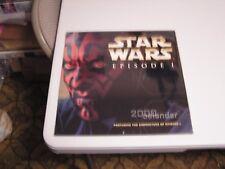 Star Wars:Episode 1 2000 Calendar 3/4 Sealed