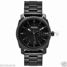 Fossil Original FS4775 Men's Machine Black Stainless Steel Watch 42mm