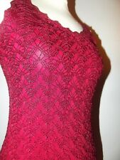 RENE DERHY ROBE DRESS  SOIREE CROCHET  T 38/40