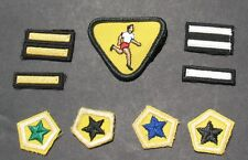 BOY SCOUTS CANADA 9 DIFFERENT CUBS MERIT BADGE PATCHES ATHLETE RANK GOLD STARS