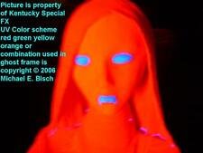 Halloween Hanging Ghost Decoration Lifesize Red Lady Crank Blacklight Glow Prop