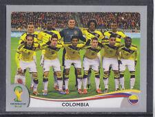 Panini-Brasil 2014 World Cup - # 185 Colombia equipo Grupo-Platinum