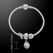 Shell .925 Sterling Silver Bead Bracelet by Peter Stone