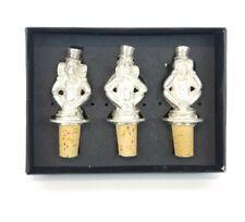 3 Metal Monkey Wine Bottle Cork Stoppers Hear No Evil See No Evil Speak No Evil