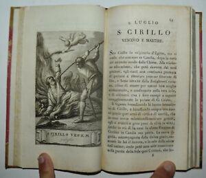 VITE DEI SANTI - fig. 1819 - 26 tavole - LUGLIO
