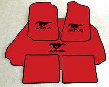 Autoteppich Fußmatten Kofferraum Set für Ford Mustang Cabrio rot schw. 1994-04