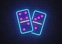 A1  Cool Neon Dominoes Poster Size 60 x 90cm Classic Game Poster Gift #16019