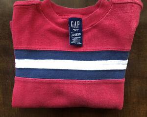 GAP Boys Sweater Top Size XS (4) Chest Stripe Blue Gray Off White