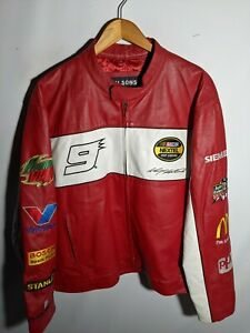 Dodge NASCAR Kasey Kahne Cup 9 Wilsons Leather Leather Jacket Chase Authentics L