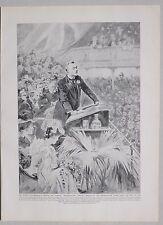 1911 PRINT KING EDWARD VII JOSEPH CHAMBERLAIN PREFERENTIAL TARIFFS SPEECH 1903