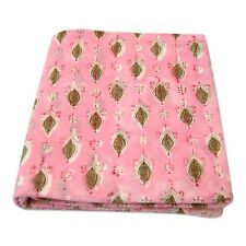5 Yards Indian Hand Block Floral Print Natural Cotton Fabric Dressmaking Sewing