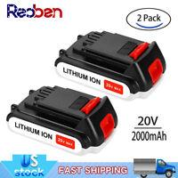For BLACK+DECKER 20Volt MAX Lithium ion Battery LBXR20 LST220 LBX20 LBXR2020-OPE