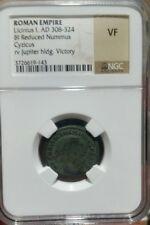 Licinius I Copper Nummus AD308-324 NGC Very Fine. Cyzicus Mint