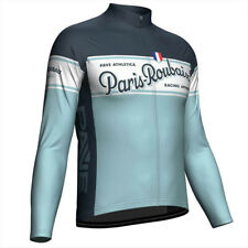 Mens Thermal Fleece / Polyester PAVE Paris Roubaix cycling jersey Long sleeve