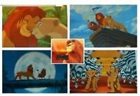 "DISNEY THE LION KING ART LITHO LITHOGRAPH 4 PRINT SET LOT 11X14"" NALA SIMBA NEW"