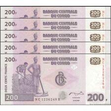TWN - CONGO DEM. REP. 99A - 200 Francs 31/7/2007 UNC NC-H (HdM) DEALERS x 5