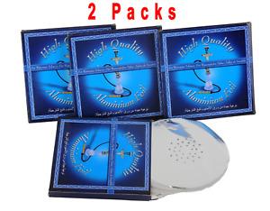 2 Pack Lot Pieces Hookah 4Shisha Pierced Foil Thick Aluminum Foils Fit for Bowl