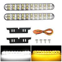 2x 30 LED Tagfahrlicht Tagfahrleuchten Universal Auto Scheinwerfer Lichter DC12V