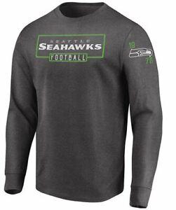 Seattle Seahawks Men's Kick Return Long Sleeve Shirt - Charcoal