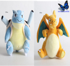 2pcs Blastoise Charizard Pokemon Anime Plush Doll Toys Stuffed animal plaything