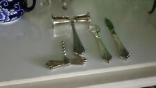 Silver Plate Bar Set Cork Screw, Measurer, Bottle Opener, Knife
