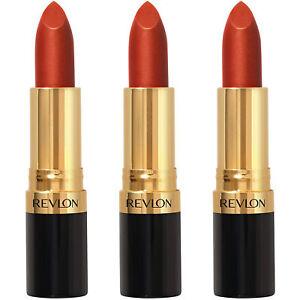 Pack of (3) New Revlon Super Lustrous Lip Stick, Abstract Orange 026